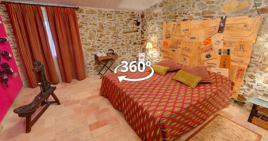 Hotel Mas Renart - Suite Vinum Rosae - Visita Virtual